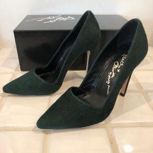 alice+olivia Dina emerald pump 36.5